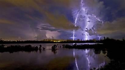 Lightning Storm Thunderstorm Clouds Wallpapers Rain Sky