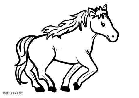 cavalli da colorare per bambini piccoli disegni di cavalli da colorare portale bambini