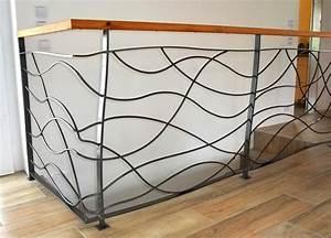 Garde De Corps Escalier : rampe design metal concept escalier ferronnerie d 39 art alsace ferronnier strasbourg ~ Melissatoandfro.com Idées de Décoration