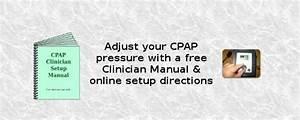 Change Cpap Pressure Settings