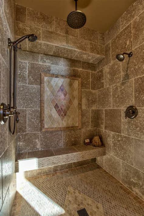 idees deco pour la salle de bain travertin salle