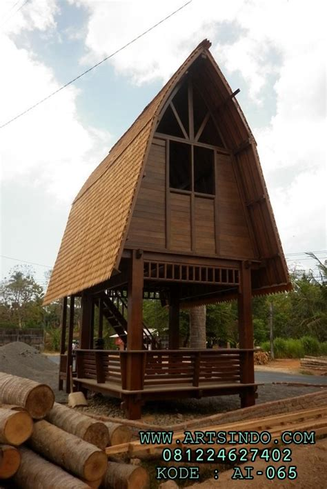 gazebo jinengan kayu kelapa rumah kayu tingkat jepara