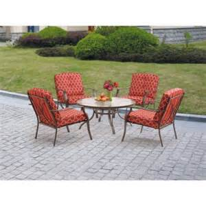 mainstays ashwood heights 5 piece outdoor chat set red