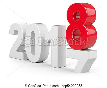 2017 2018 change concept represents the new year white