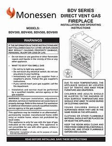 Monessen Hearth Indoor Fireplace Bdv500 User Manual