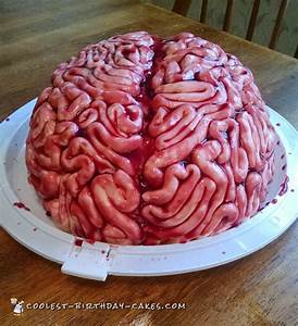 Coolest Brain Cake for a Halloween Birthday