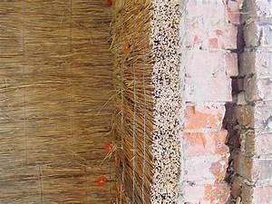 Zweischaliges Mauerwerk Mit Luftschicht : innend mmung mit schilf d mmung eines fachwerkhaus hiss reet ~ Frokenaadalensverden.com Haus und Dekorationen