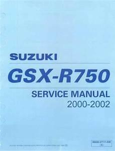Suzuki Gsx R 750 K1 K2 Service Manual Pdf  45 9 Mb