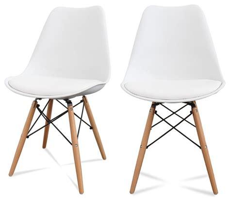 chaise blanche salle a manger chaise de cuisine scandinave