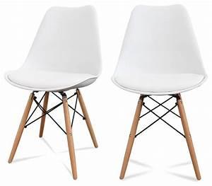 chaise de cuisine scandinave With salle À manger contemporaineavec chaises blanches pied bois