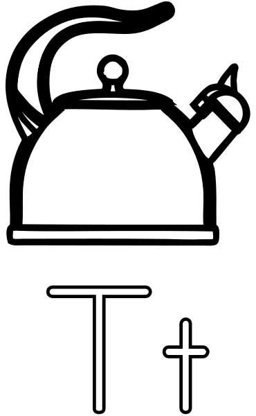 tea kettle coloring page printable worksheets  kids