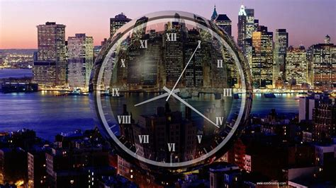 Windows 10 Analog Clock Screensaver New York Clock