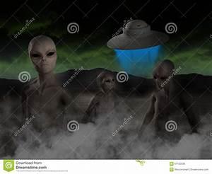 Alien UFO, Aliens, Spaceship Illustration Stock ...