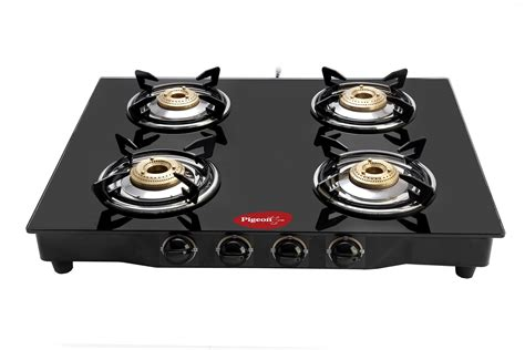 gas stove sale pigeon 4 brass burner glasstop gas stove price in india