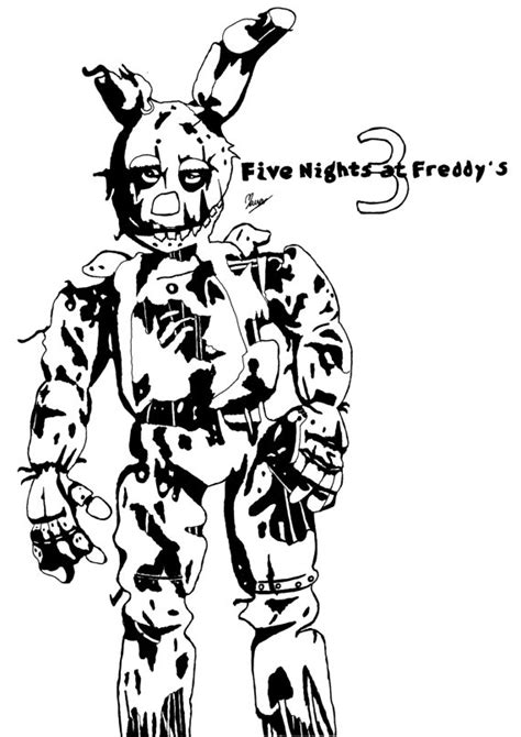 Five Nights At Freddys Kleurplaat by Trap Five Nights At Freddy S Coloring Pages