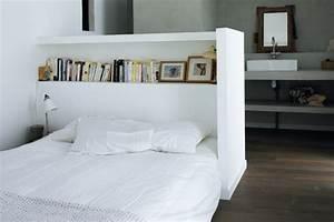 Tete De Lit Blanche : t te de lit avec rangement pour une chambre plus organis e ~ Premium-room.com Idées de Décoration