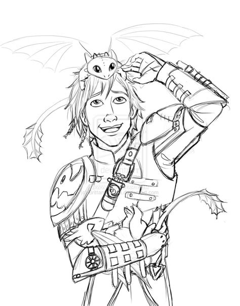 hiccup  baby night furies  train  dragon dragon coloring page