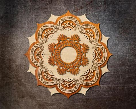 Have you seen those gorgeous layered mandalas all over pinterest lately? XXL Multi-Layered Mandala Vector Plan for Laser Cutting | Etsy