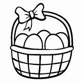 Basket Easter Coloring Egg Pages Baskets Draw Drawing Print Sheets Printable Picnic Bunny Colouring Bucket Clipart Netart Drawings Carton Sketch sketch template