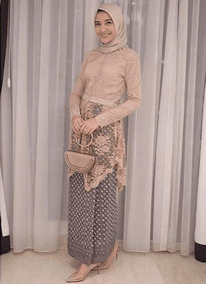 model kebaya modern brokat muslim simple model