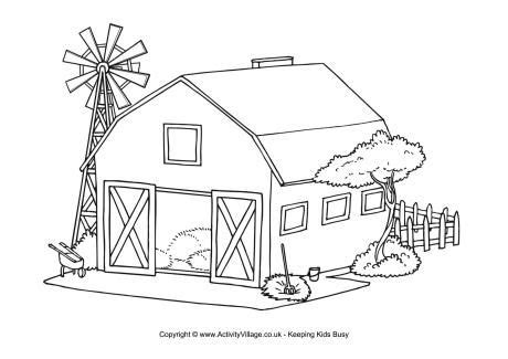 barn colouring page farm coloring pages coloring pages
