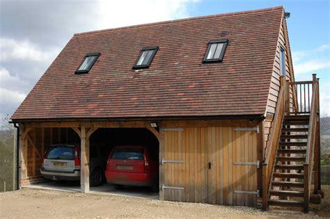 Border Oak  Oak Framed Garage With Accommodation Above