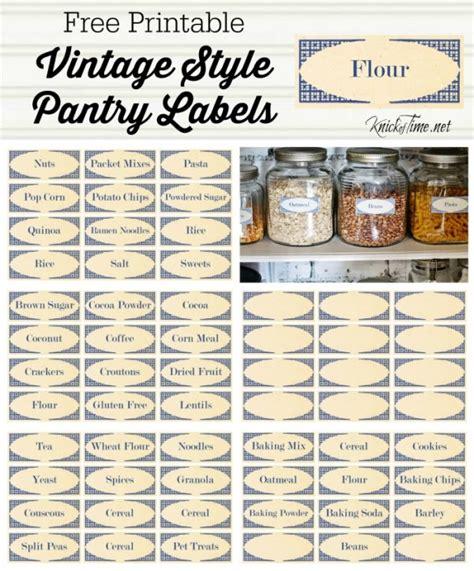 vintage style pantry labels  knickoftimenet