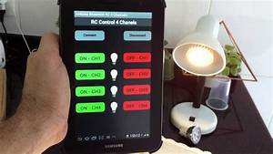 App Android Arduino Bluetooth RC 4 Channels Relay Led Lamp