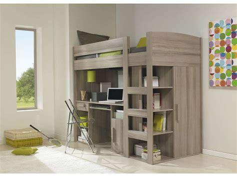 lit superposé avec bureau intégré conforama lit mezzanine 90x200 cm montana chêne gris vente de lit