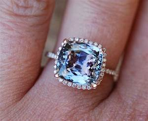 tanzanite ring rose gold engagement ring lavender mint With crazy wedding rings