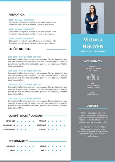 Cv Moderne by Exemple De Cv Moderne Grey Gratuit 224 T 233 L 233 Charger