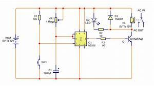 Delay Timer Circuit Diagram