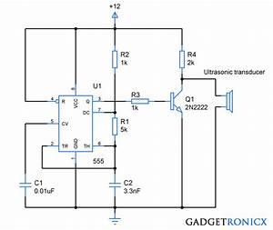 Ultrasonic Transmitter Circuit Using Ic 555