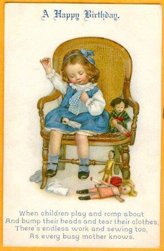 busy mother birthday card postcard susan  pearce