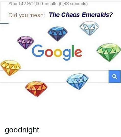 Google Did You Mean Meme - about 42972000 results 088 seconds did you mean the chaos emeralds google goodnight google