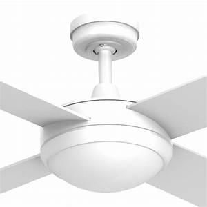 Intercept ceiling fan with light e fitting white