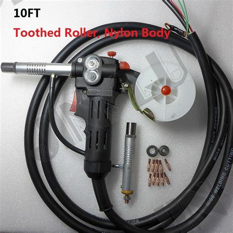 toothed roller 10 mig spool gun wire feed aluminum