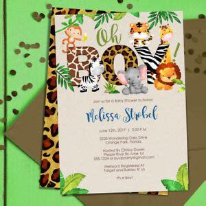 jungle baby shower invitations boy baby shower invites