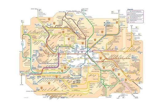 Carte Metro Rer by Plan M 233 Tro Rer