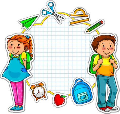 foto de labels scraps png School cartoon School stickers