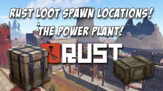 rust loot power plant weapon locations crates