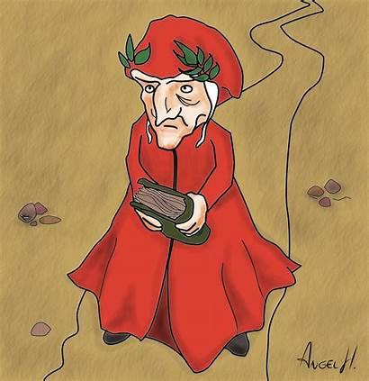 Dante Alighieri Caricatura Clipart Purgatorio Allighieri Lent