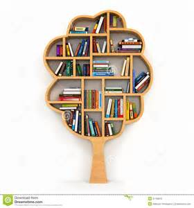 design blueprints for free tree of knowledge bookshelf on white background royalty