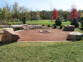 Diy Pea Gravel Patio Ideas by Red Crushed Granite Patio Chilton Fire Pit Images Frompo