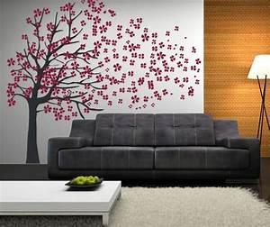 Baum An Wand Malen : wundersch ner baum mit rosa bl ten an der wand malen kinderzimmer pinterest w nde pelz ~ Frokenaadalensverden.com Haus und Dekorationen
