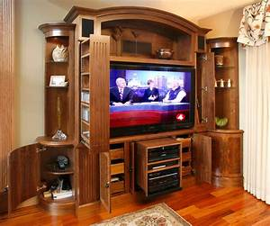 TV and media wall unit - Traditional - Living Room - other ...