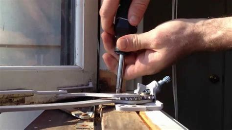 replace  casement window crank operator youtube
