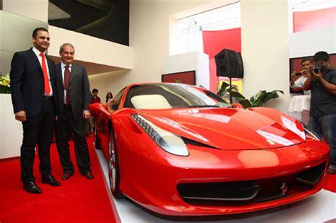 ferrari officially debuts  india autocar india