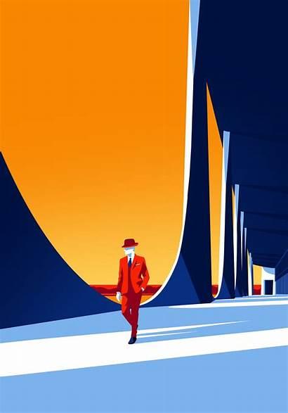 Illustrations Architecture Niemeyer Oscar Minimal Minimalist Celebrate