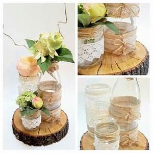 Centre De Table Champetre : diy d coration mariage centre de table champetre ~ Melissatoandfro.com Idées de Décoration